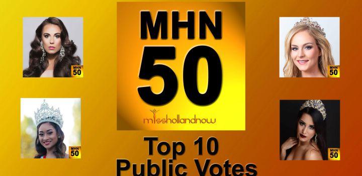 MHN50, Top 10 public votes
